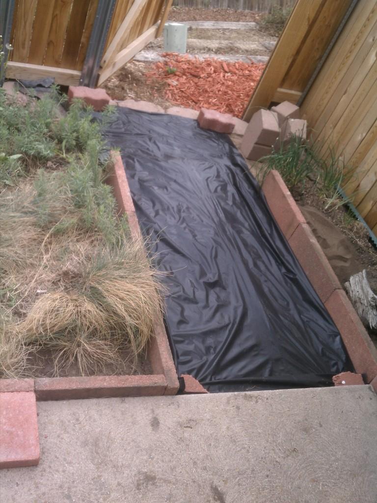 Weedblock fabric down