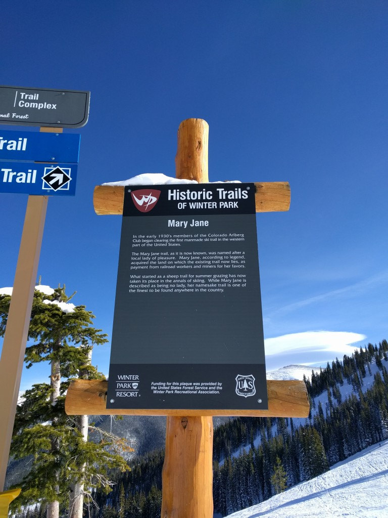 Mary Jane trail sign